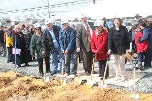 Members of Board of Directors at the Ground Breaking:Jeri Riffle, Ben Gubar, Ron Rosner, Stuart Snyder, Lynn Berkowitz, Karen Schwing