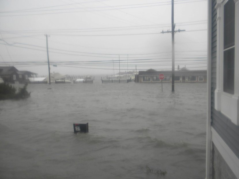Looking west from the JCC Building with the Bayside dinner in the background and our mailbox just about covered.