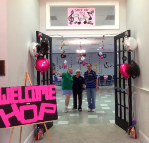 Welcome to our 50[s Sock Hop